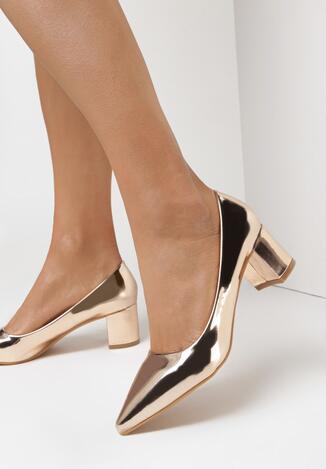 Pantofi cu toc Culoarea șampaniei