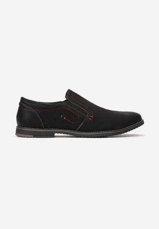 Pantofi casual Negru cu roșu