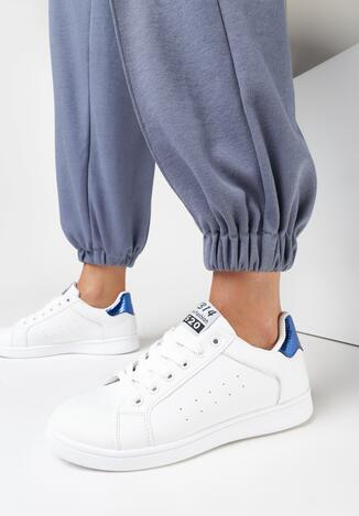Pantofi sport Alb cu albastru