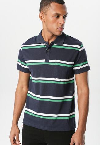 Tricou Bleumarin cu verde