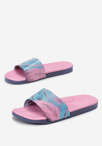 Papuci Bleumarin cu roz