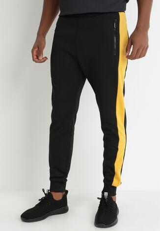 Pantaloni Negru cu galben
