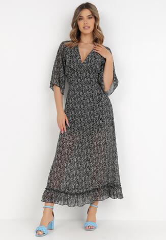 Rochie Neagră cu alb