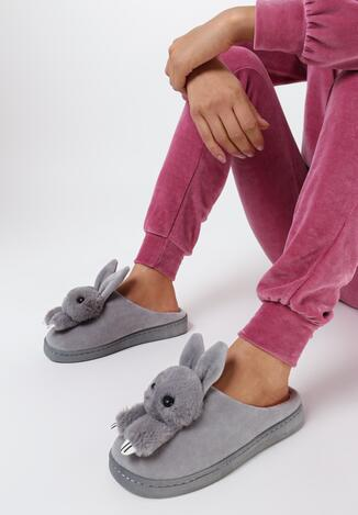 Papuci de casă Gri deschis