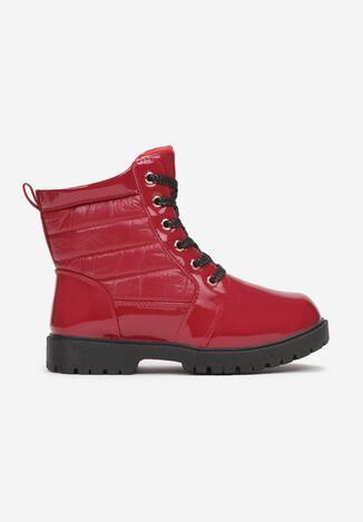 Teniși înalți Roșu cu negru