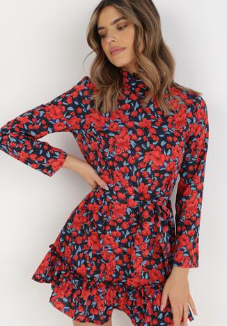 Rochie Neagră cu roșu
