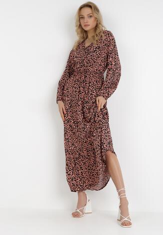 Rochie Neagră cu roz