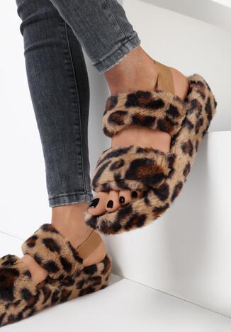Papuci de casă Print leopard