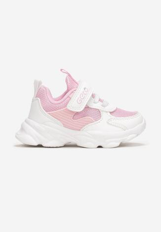 Pantofi sport Alb cu roz