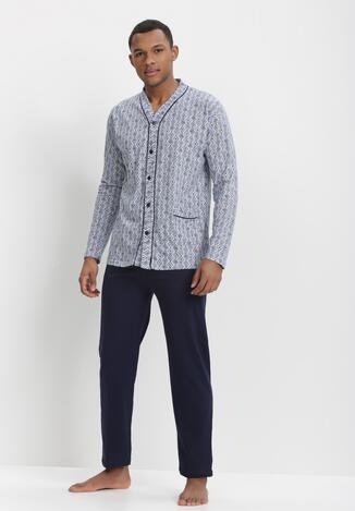 Pijama Albastră cu bleumarin