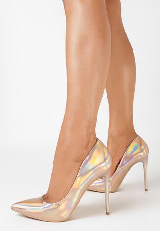 Pantofi stiletto Culoarea șampaniei