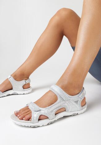 Sandale Argintiu cu gri