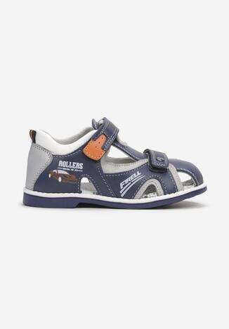 Sandale din piele Albastru