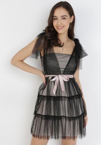 Rochie Neagră cu bej