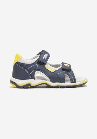 Sandale Bleumarin cu galben