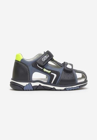 Sandale Bleumarin cu verde