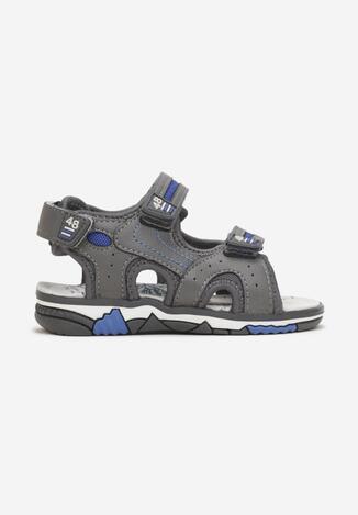 Sandale Gri cu bleumarin