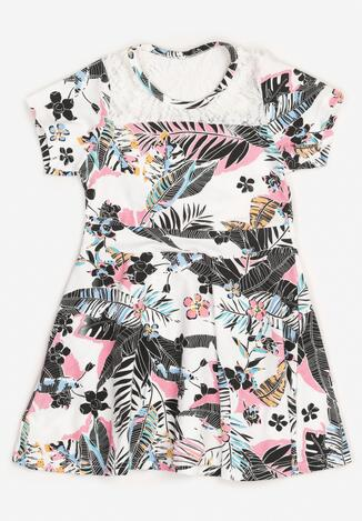 Rochie Albă cu negru