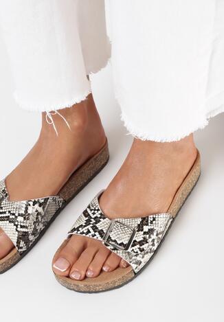 Papuci Print piele de șarpe