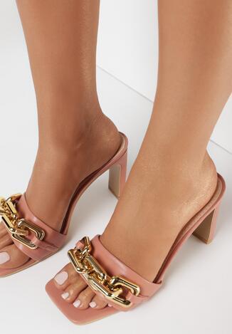 Papuci Roz cu bej