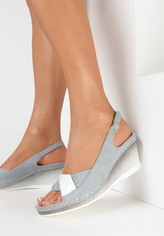 Sandale Gri cu argintiu