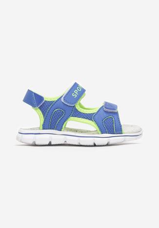 Sandale Albastru cu verde