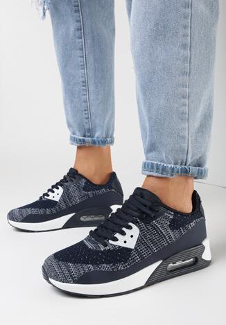 Sneakers Bleumarin cu alb