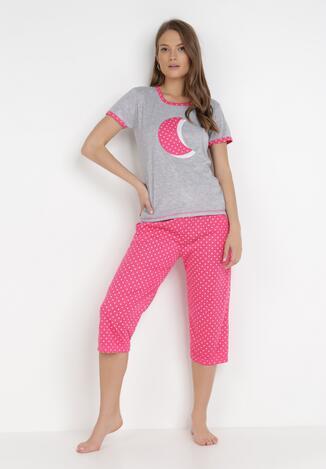 Compleu pijama Gri cu roz