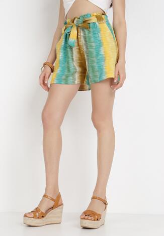 Pantaloni scurți Verde cu galben