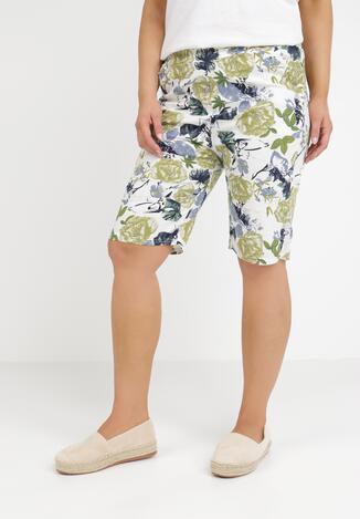 Pantaloni scurți Alb cu verde
