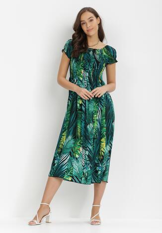 Rochie Neagră cu verde