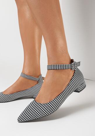 Pantofi cu toc Gri cu alb