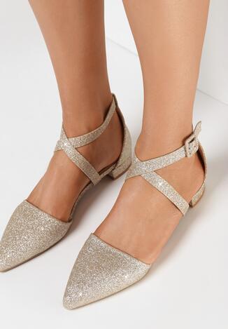 Pantofi cu toc Aurii