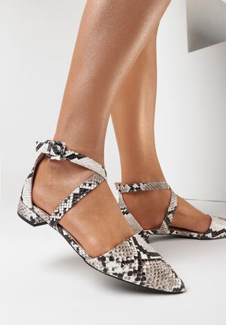 Pantofi cu toc Print piele de șarpe