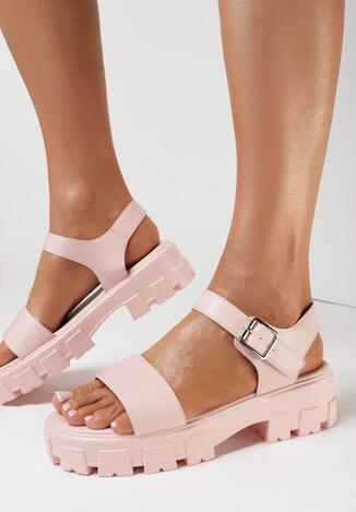 Sandale Roz deschis
