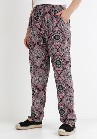 Pantaloni Negru cu roz