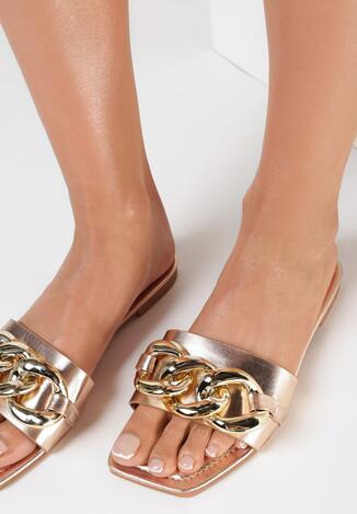Papuci Culoarea șampaniei