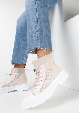Sneakers Roz deschis