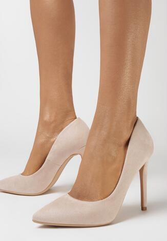 Pantofi stiletto Bej