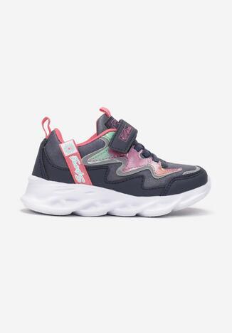 Pantofi sport Bleumarin cu fucsia