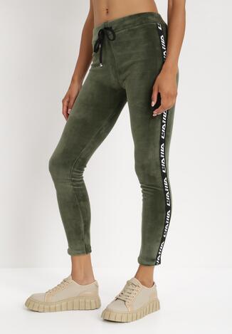 Pantaloni Verde cu alb