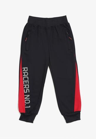 Pantaloni Bleumarin cu roșu