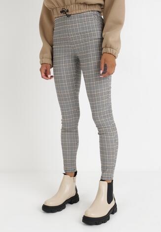 Pantaloni Negri cu bej