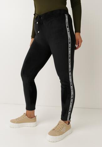 Pantaloni Negru cu alb