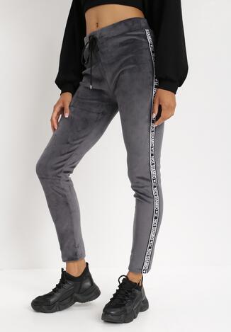 Pantaloni Gri cu alb