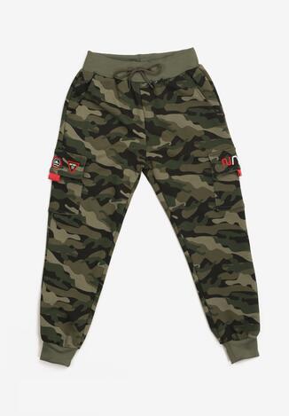 Pantaloni Roșu cu verde