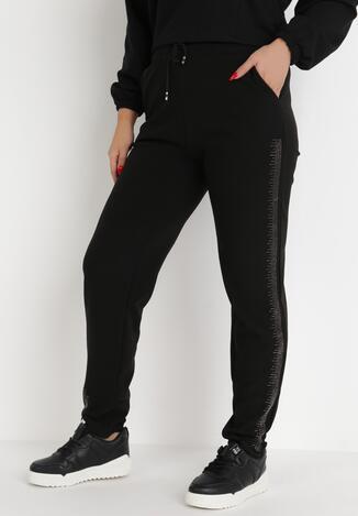 Pantaloni Negru cu argintiu