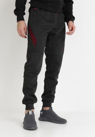 Pantaloni Gri cu roșu