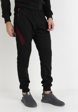 Pantaloni Negru cu roșu