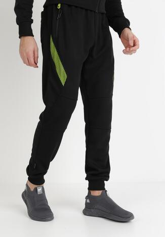 Pantaloni Negru cu verde